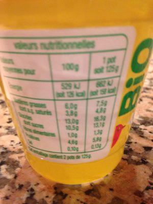 Yaourt de brebis sur lit de chataigne - Nutrition facts