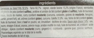 Samossas bœuf sauce aigre-douce (+1 gratuit) - Ingrédients