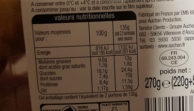 Samossas Volaille - Informations nutritionnelles - fr