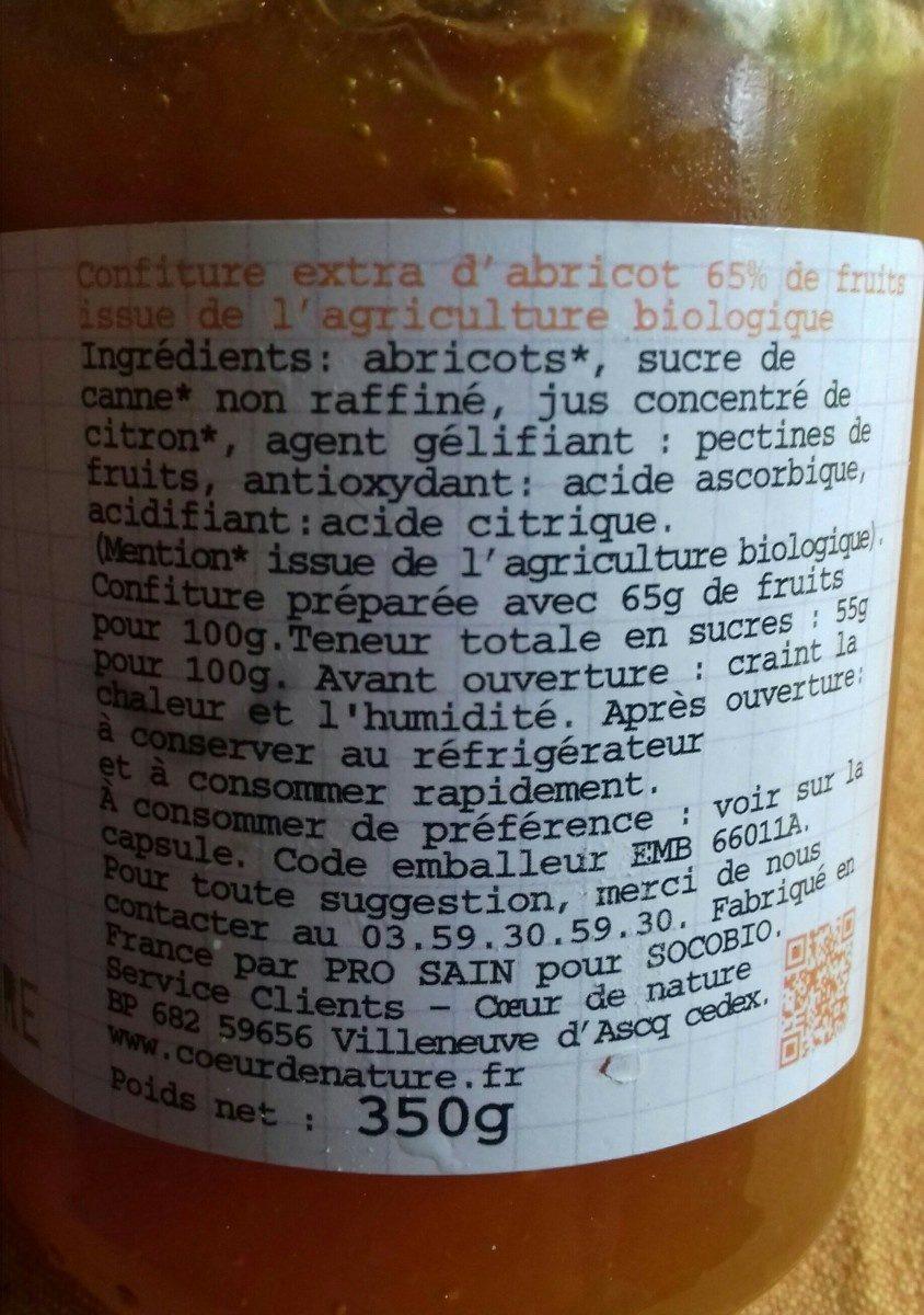 Confiture d'abricot - Ingrediënten - fr