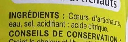 Coeurs d artichauts - Ingredients