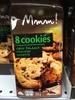 8 cookies cœur fondant chocolat noisette - Product