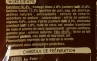 Mmm! Tarte flambée Alsacienne gratinée à l'emmental - Ingrédients - fr