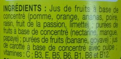 Cocktail Multivitaminé - Ingrédients - fr