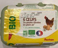 6 oeufs de poules élevées en plein air - Produit - fr