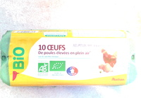10 Oeufs Bios - Product - fr