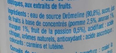 Eau de source aromatisée Exotique - Ingrédients - fr