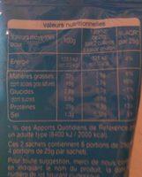 Mozzarella en Cossettes - Informations nutritionnelles - fr