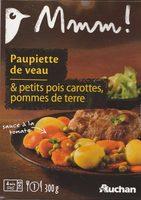 Paupiette de veau & petits pois carottes, pommes de terre - Produit - fr