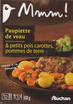 Paupiette de veau & petits pois carottes, pommes de terre - Produit