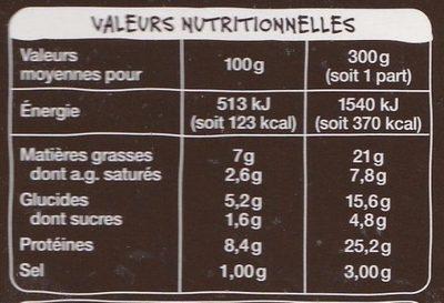 Paupiette de veau & petits pois carottes, pommes de terre - Informations nutritionnelles - fr
