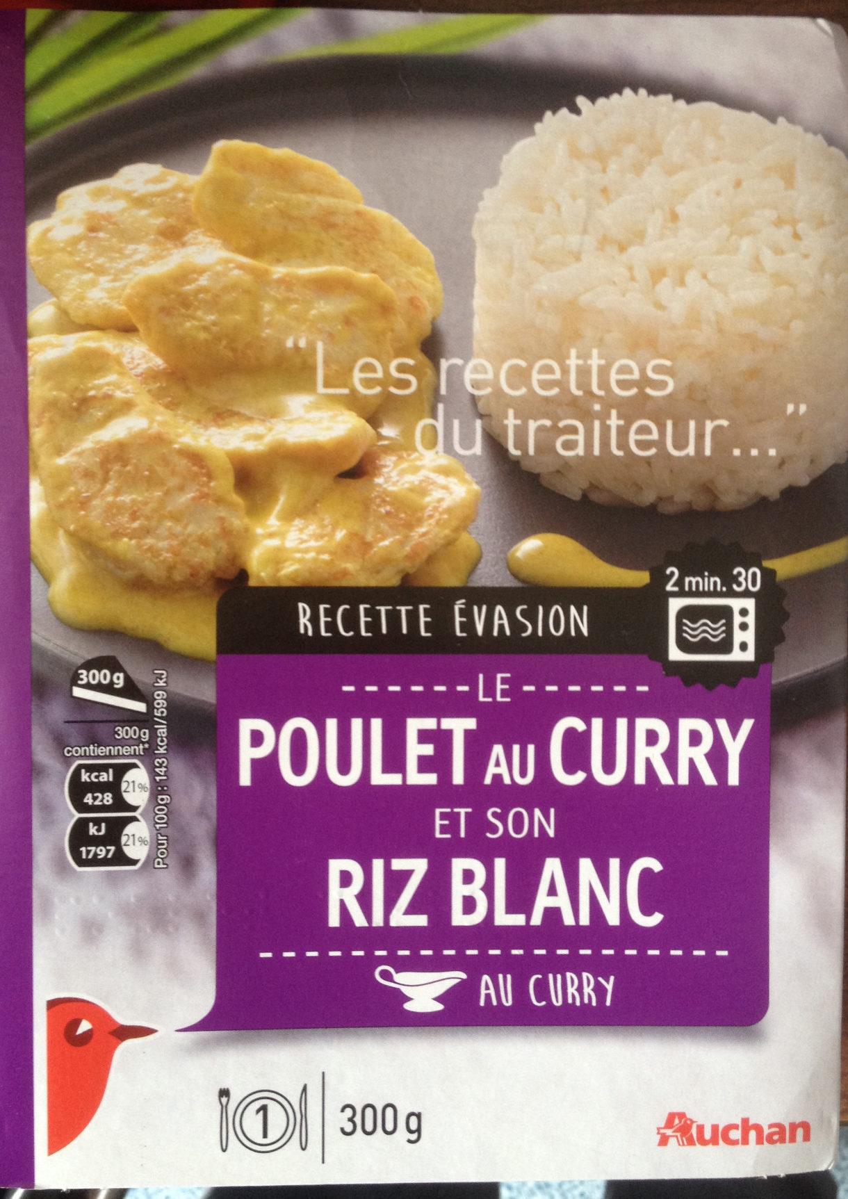le poulet au curry et son riz blanc auchan 300 g. Black Bedroom Furniture Sets. Home Design Ideas