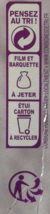 Le poulet au curry et son riz blanc - Instruction de recyclage et/ou information d'emballage - fr