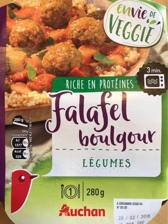 Envie de Veggie, Falafel Boulgour Légumes - Produit - fr