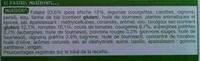 Envie de Veggie, Falafel Boulgour Légumes - Ingrédients - fr