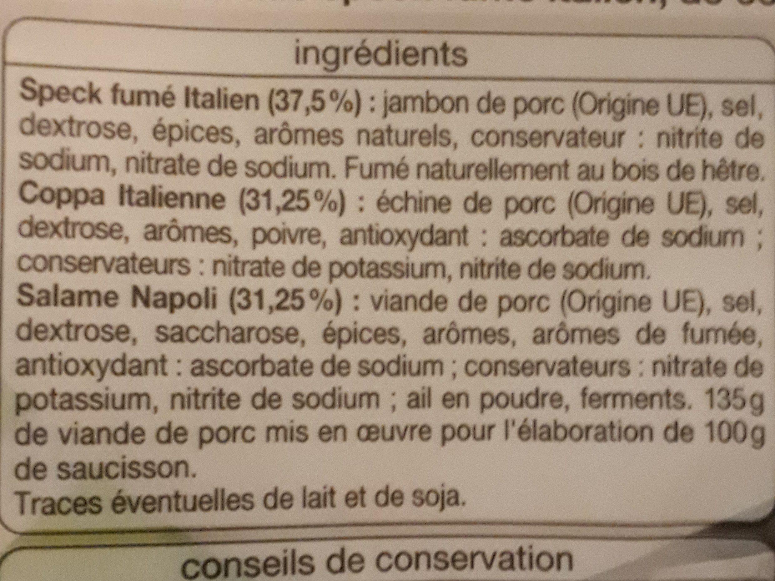 Plateau dégustation - Ingrédients - fr