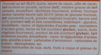 Barres fourrées Choco-Caramel (6 biscuits) - Ingrédients