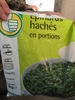Epinards hachés en portions - Product