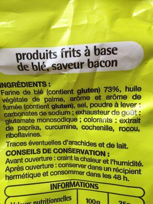 Snacks saveur bacon - Ingrédients