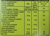 Crousty chocolat au lait noisettes - Nutrition facts