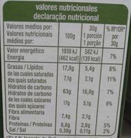 Crousty - Chocolat noir et noisettes - Valori nutrizionali - fr