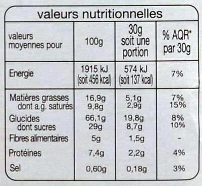Crousty 4 fruits (raisin, noix de coco, banane et pomme) - Nutrition facts - fr