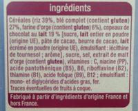 Déliform Chocolat au Lait - Ingrédients - fr