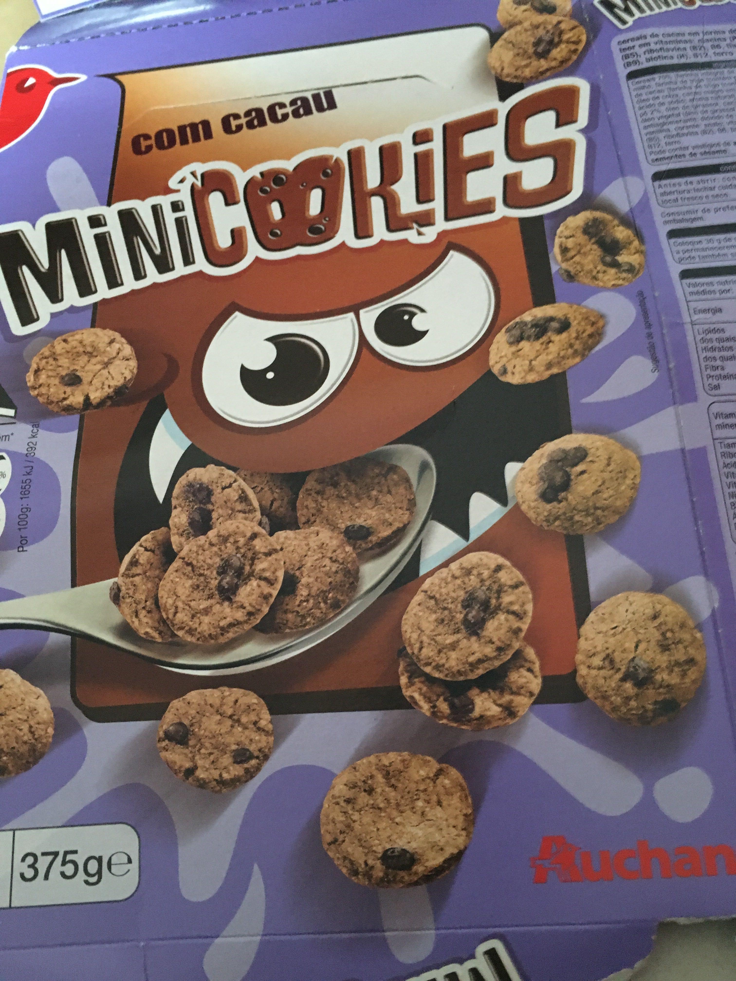 Mini cookies cacao auchan 375g - Auchan mini four ...