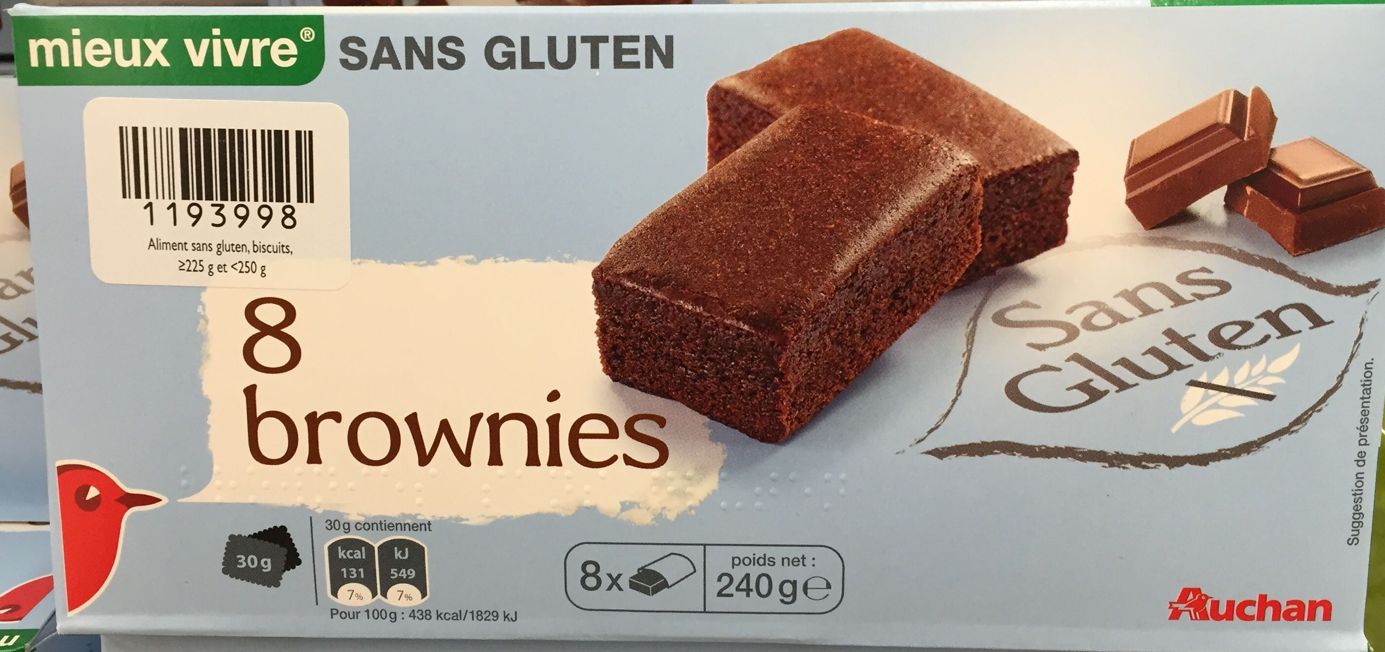 8 brownies - Product