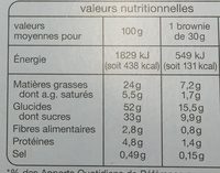 8 brownies - Nutrition facts