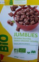 Jumblies Céréales fourées saveur chocolat noisette - Produit - fr