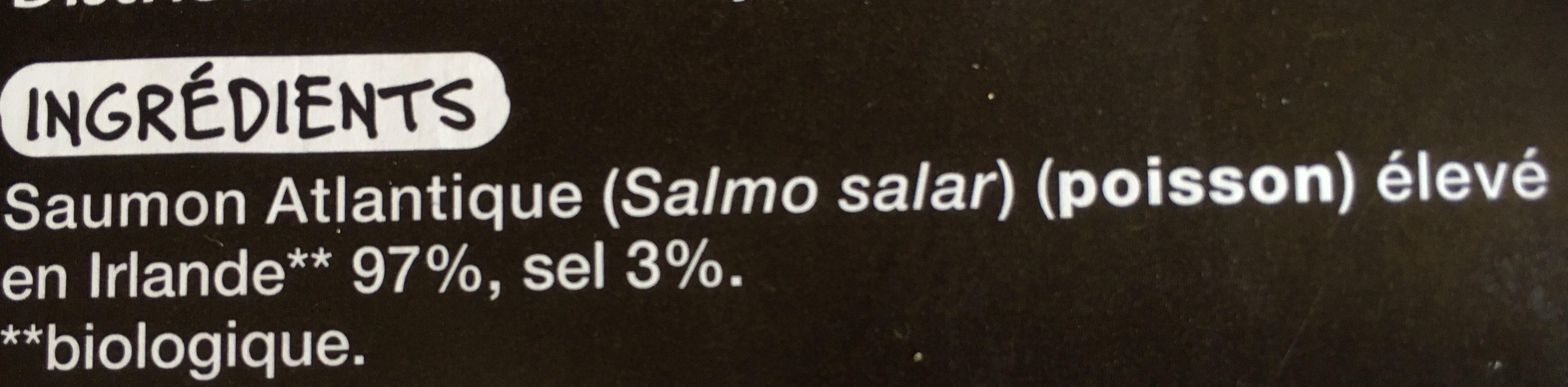 Saumon atlantique d'Irlande - Ingrédients