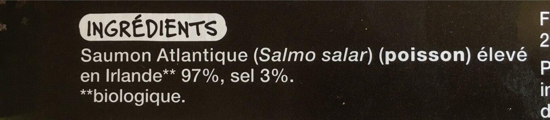 Saumon atlantique d'Irlande - Informations nutritionnelles