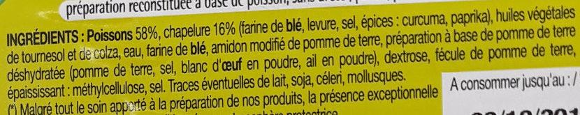 Panés au poisson - Ingredients