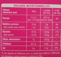 Auchan Carpaccio S.fume 145g - Nutrition facts - fr