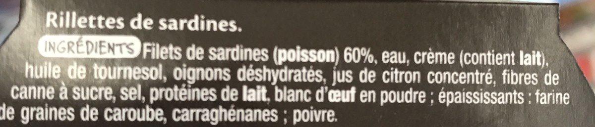 Rillettes de Sardines - Ingredients