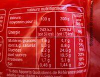 Sauce spéciale pizza - Nutrition facts - fr