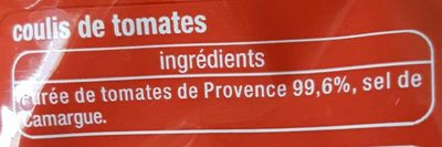 Coulis Tomate de Provence - Ingredients - fr