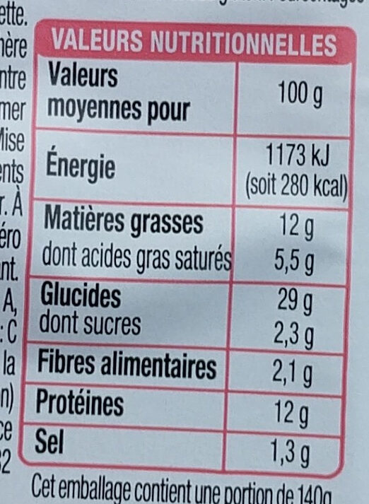 Pause Snack Jambon Emmental - Nutrition facts
