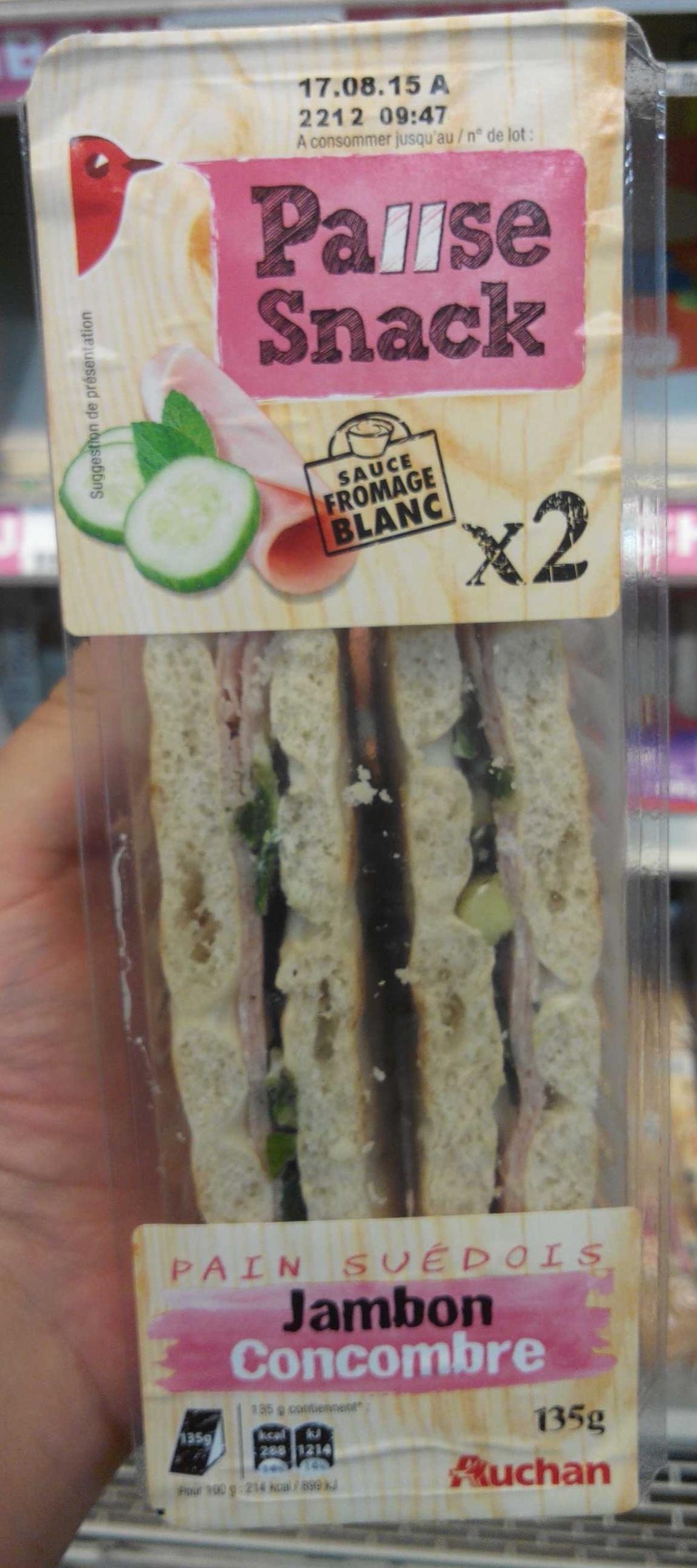 Pause Snack Jambon Concombre - Produit