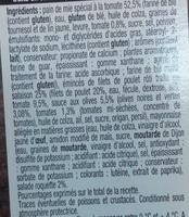 Pause Snack Émincé Poulet rôti tomate roquette - Ingrédients