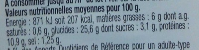Pause Snack Émincé Poulet rôti tomate roquette - Nutrition facts