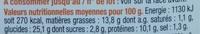 Pause Snack Poulet rôti Salade - Nutrition facts