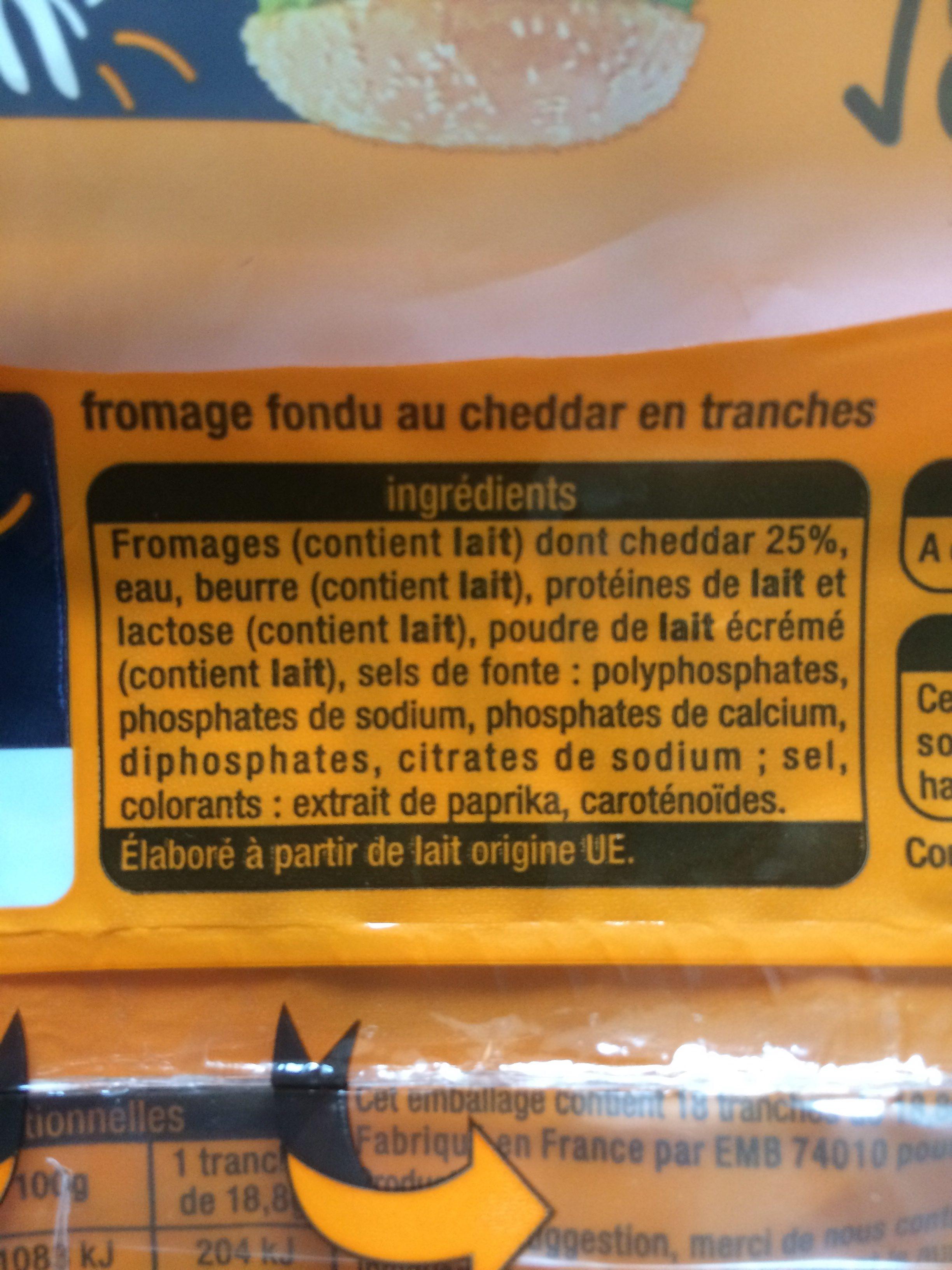Cheddar 1,53€ - Ingrediënten