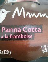 Panna cotta à la framboise - Produit - fr