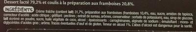 Panna cotta à la framboise - Ingrédients - fr