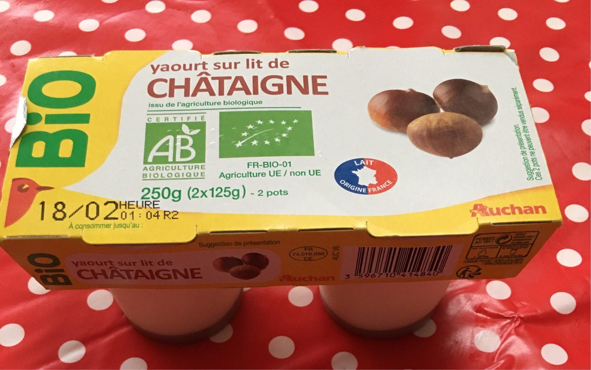 Yaourt sur Lit de Châtaigne - Product