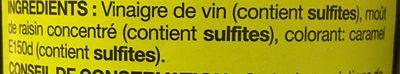 Vinaigre balsamique - Ingredienti - fr