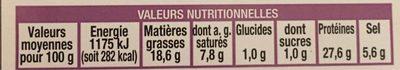 *auchan Plat Charcu Seche 200g - Nutrition facts
