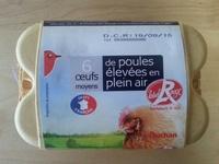 Oeufs moyens de poule élevées en plein air - Product - fr